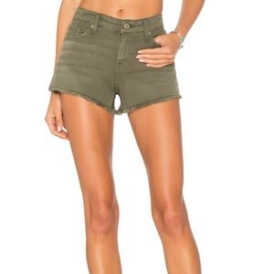 7 For All Mankind Olive Shorts